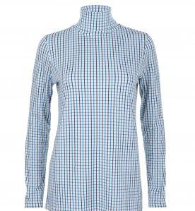 patterned polo neck jumper