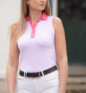 sleeveless polo, bamboo polo top, bamboo polo shire, golf polo shirt, breathable polo shirt, sustainable clothing