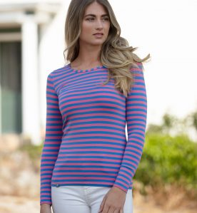sale stripe bamboo tee