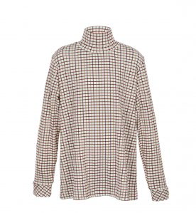 childs check polo neck