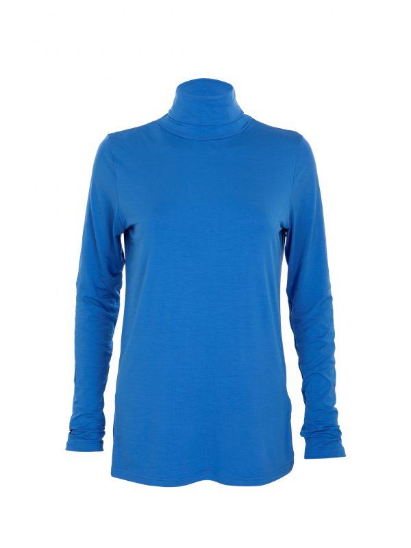 blue polo neck