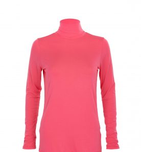 bamboo clothing uk - pink roll neck sale