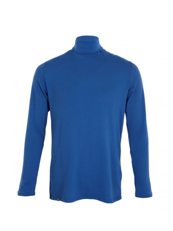 mens blue polo neck