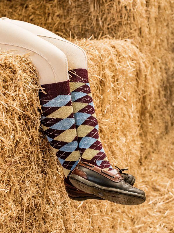 long bamboo socks argyle pattern