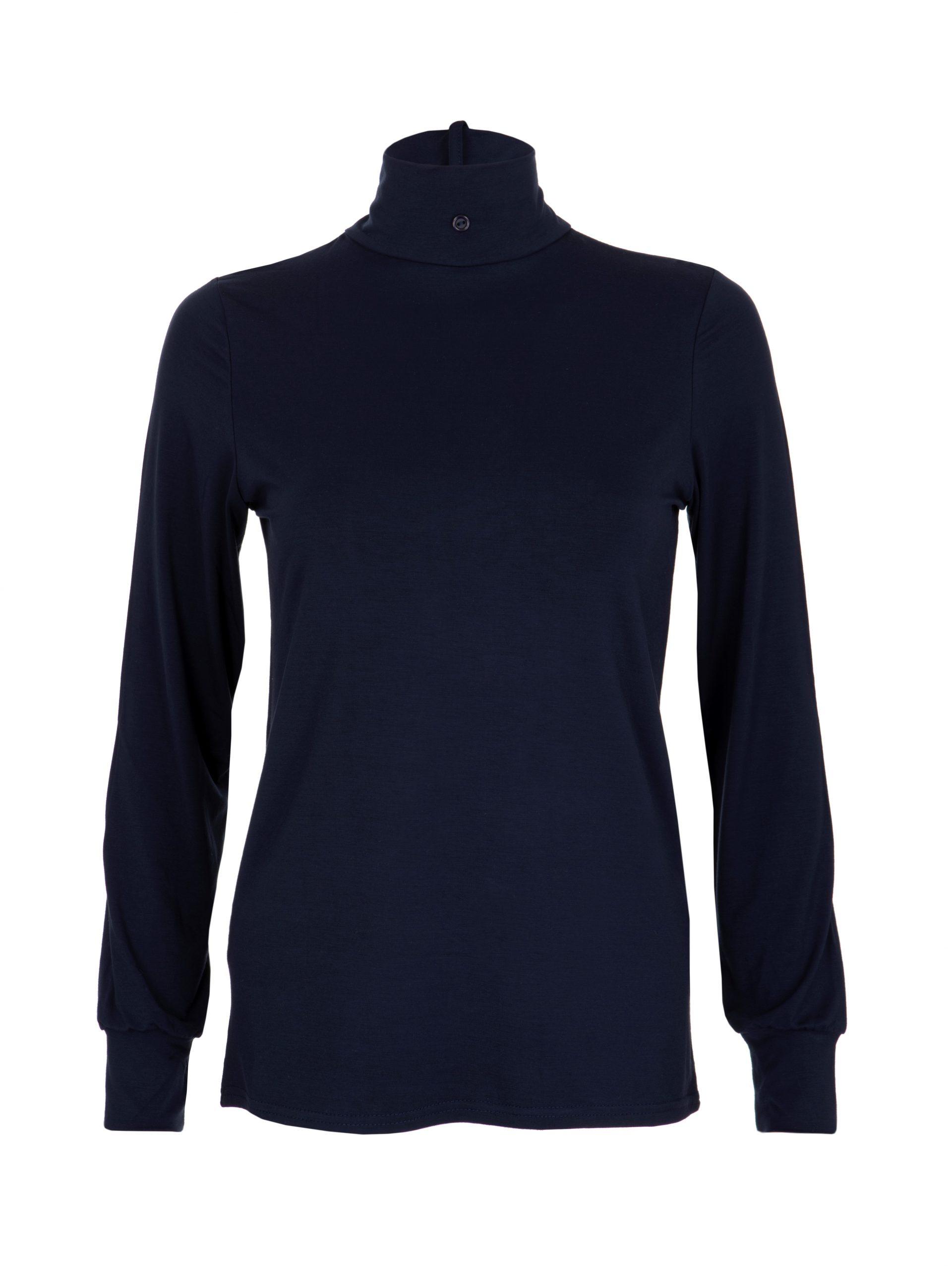 ladies navy stock shirt