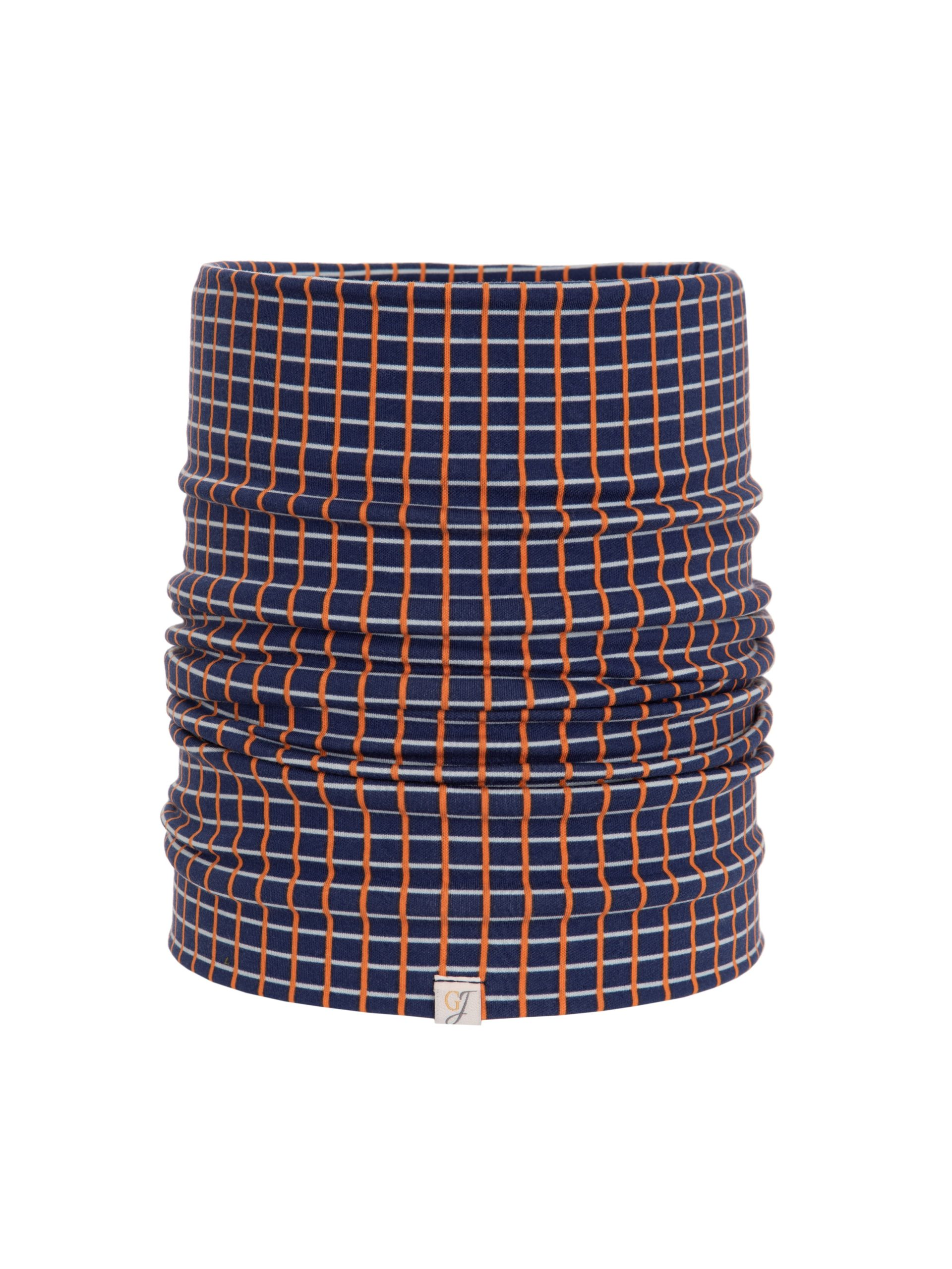 bamboo snood in navy check